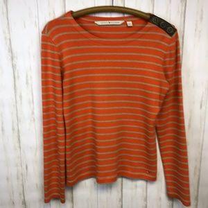 TOMMY HILFIGER   Striped Boatneck Shirt Large